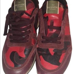Valentino Red Camo Rockrunner Sneaker Size 41